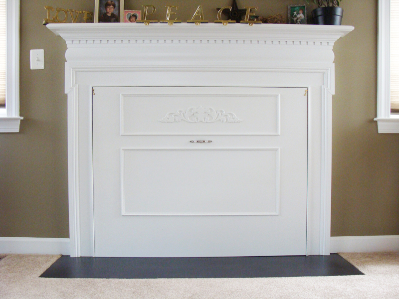 Fireplace cover project Hide fireplace ideas